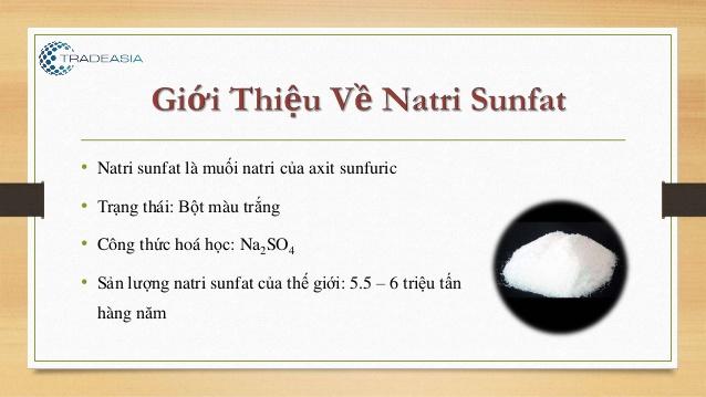 Ứng dụng của Natri Sunfat (Na2SO4)