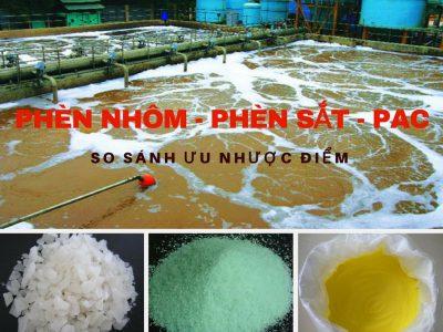 So sánh phèn nhôm – phèn sắt – PAC trong xử lý nước thải