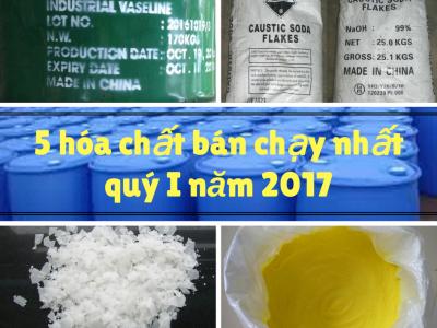 5 hóa chất bán chạy nhất của Phú Bình Group quý I năm 2017