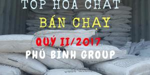 TOP hóa chất bán chạy nhất quý II/2017- Phú Bình Group